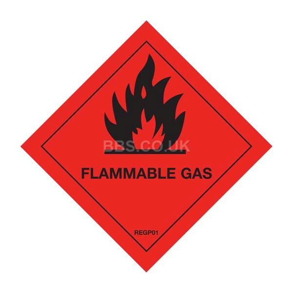 Flammable Gas Warning Diamond (1)