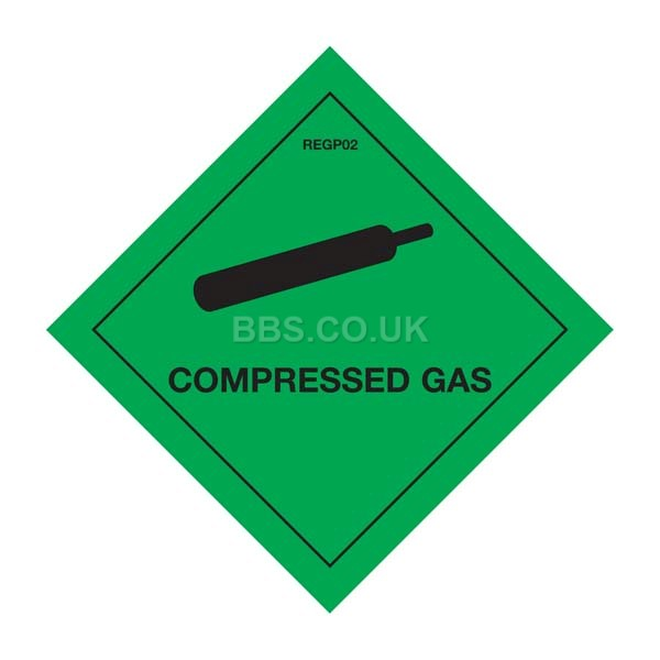 Compressed Gas Warning Diamond (1)