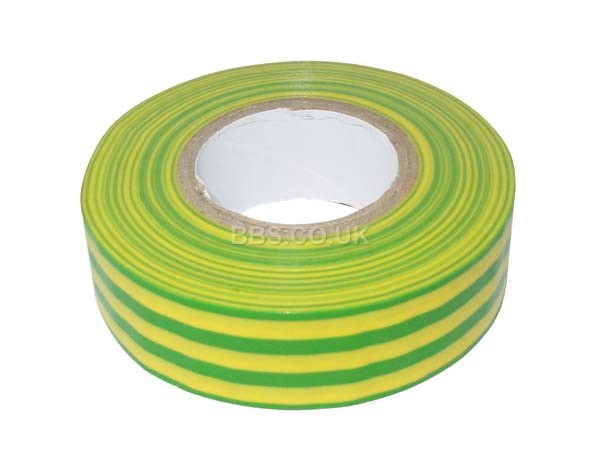 PVC Insulation Tape 20m - Green/Yellow