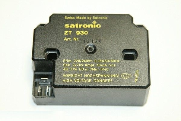 HONEYWELL SATRONIC ZT930 TRANSFORMER 240v OIL