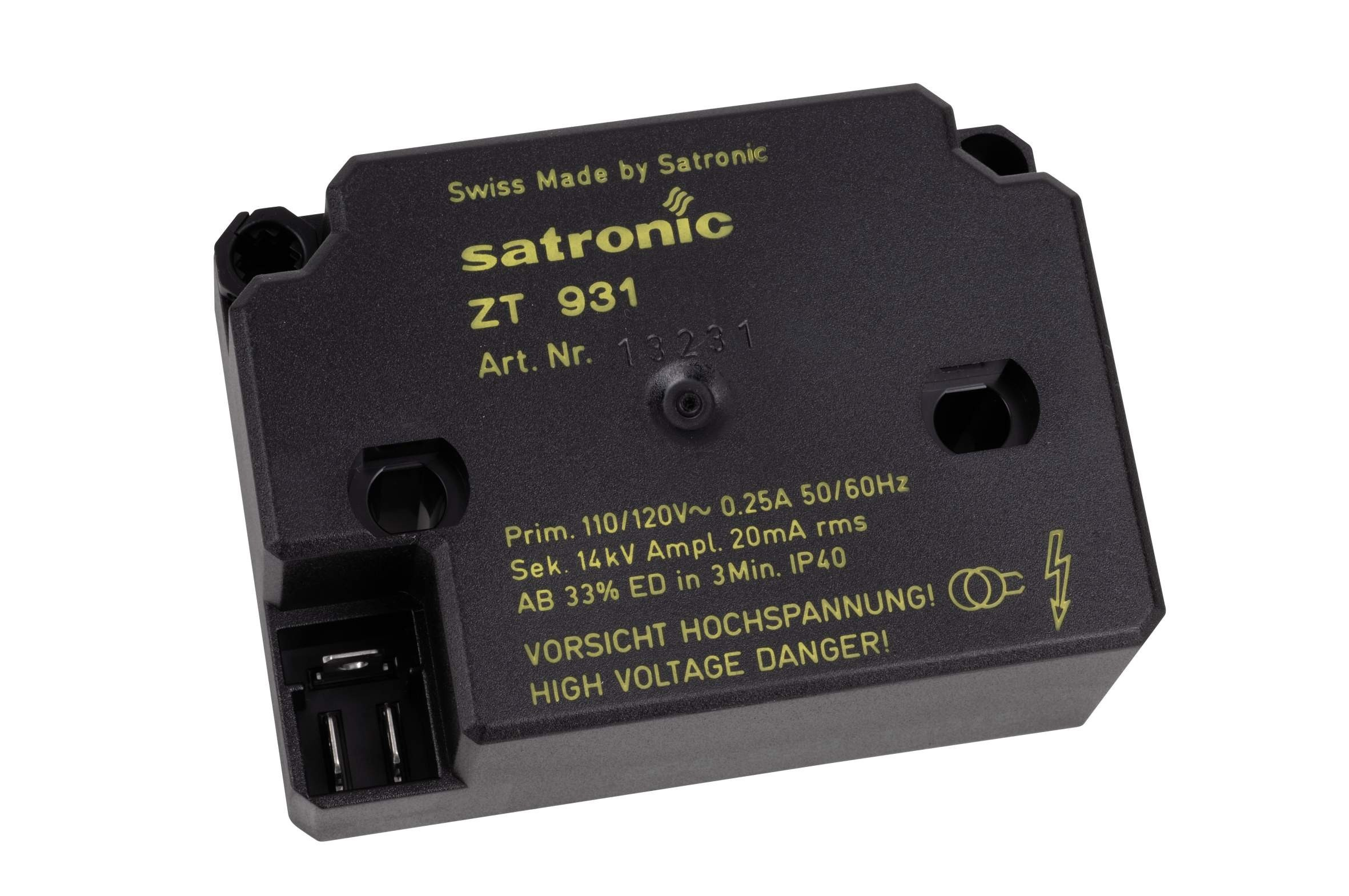 HONEYWELL SATRONIC ZT931 TRANSFORMER 230v SUITABLE FOR GAS